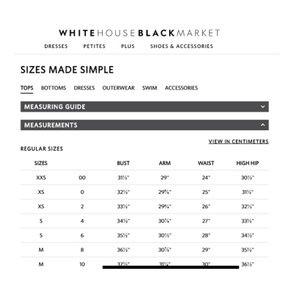 White House Black Market Silk Halter Sz 6